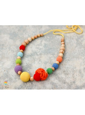 KangarooCare Bright Rainbow Flower necklace