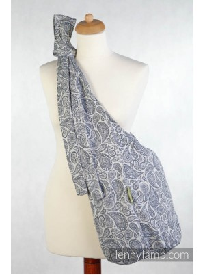 Lenny Lamb Hobo Bag -  Paisley Navy Blue & Cream