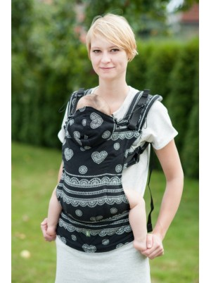 Ergonomic Carrier, Toddler Size, jacquard weave 100% cotton - wrap conversion from GLAMOROUS LACE - Second Generation