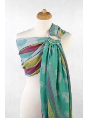 Ringsling, Jacquard Weave (100% cotton) - Mint Lace Size (2.1m)