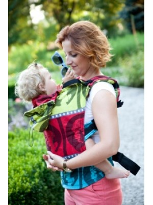 Ergonomic Carrier, Baby Size, jacquard weave 100% cotton - wrap conversion from MOVIE STAR