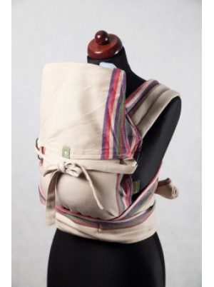 Mei Tai carrier Mini, broken twill, 100% cotton - with hood - Sand Valley
