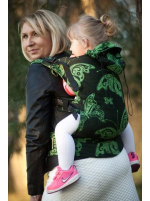 Ergonomic Carrier, Toddler Size, broken-twill weave 100% cotton - wrap conversion from SPRING BUTTERFLY (Reverse)