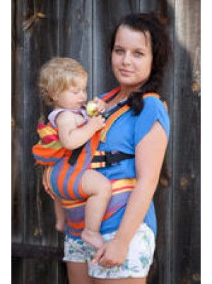 Ergonomic Carrier, Toddler Size, broken-twill weave 100% cotton - wrap conversion from ZUMBA ORANGE